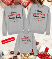 Personalized Family Christmas Jumpers Sweatshirts