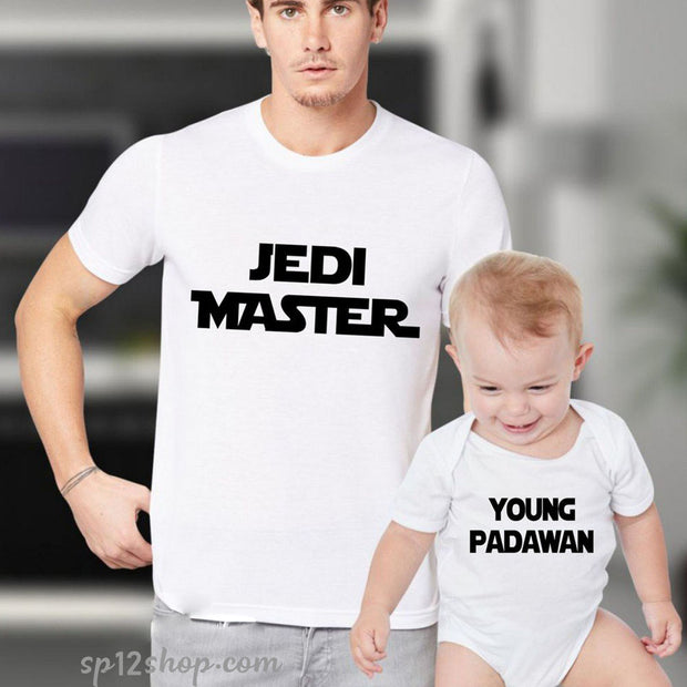 Father Daddy Daughter Dad Son Matching T shirts Star War Jedi Master Padawan