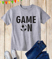 Football Game On Kids T Shirt