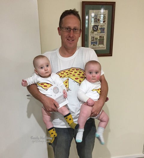 Funny Pizza Matching T Shirt