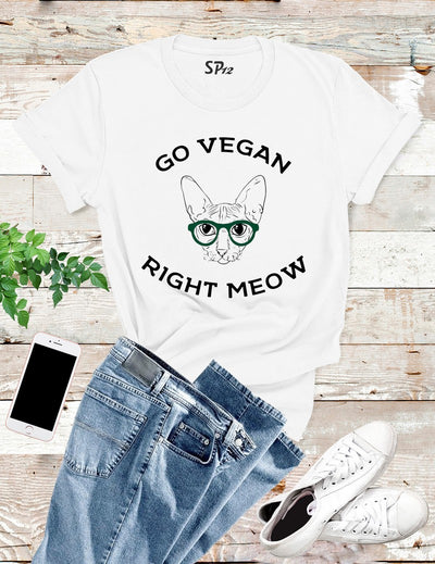 Go Vegan Right Meow T Shirt