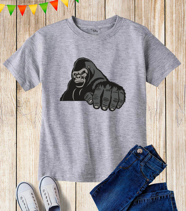 Gorilla King Kids T Shirt