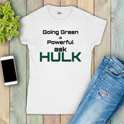 Green Hulk Awareness Women T Shirt