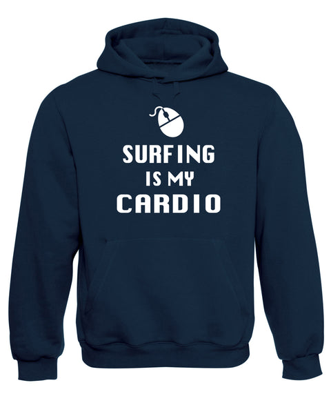 Surfing Is My Cardio Sports Funny Slogan Hoodie