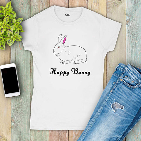 Happy Bunny Graphic Women T Shirt