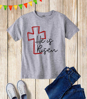 He Is Risen Kids T Shirt