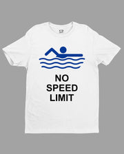 Hobby T shirt No Speed Limit Swimming Race Pool