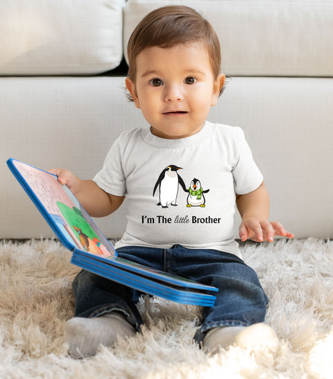 I Am The Little Brother Penguin Kids T Shirt