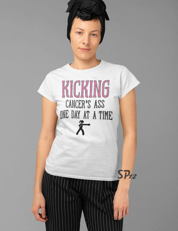 Kicking Cancers Ass T Shirt