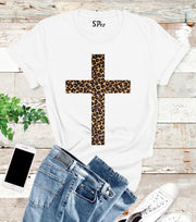 Leopard Jesus Cross T Shirt