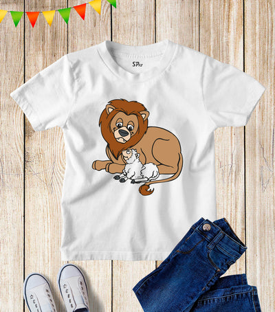 Lion And The Lamb Kids T Shirt