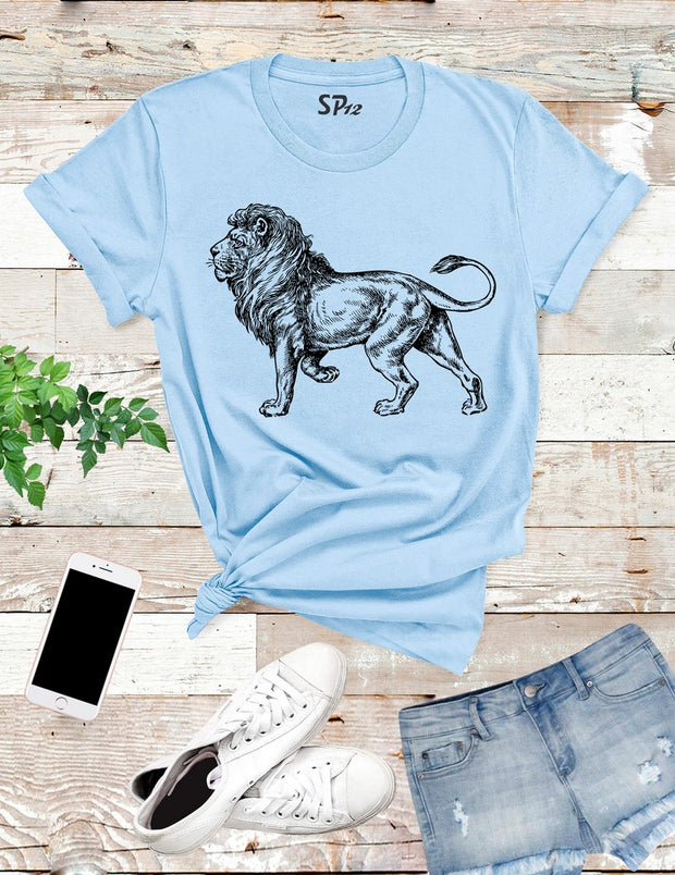 Lion Funny Graphic T Shirt