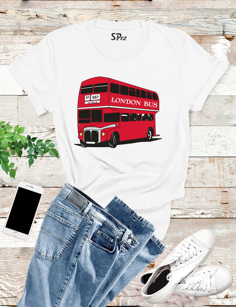 London Bus Vintage Double Decker Souvenir T Shirt