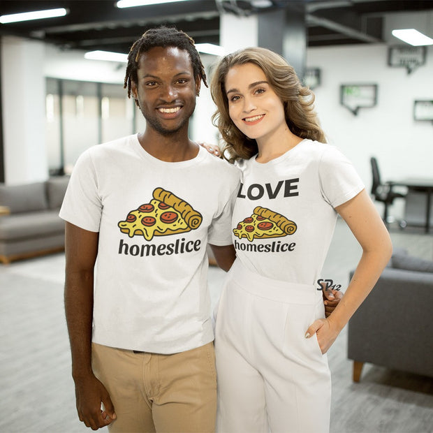 Love Homeslice Pizza Couple T Shirt