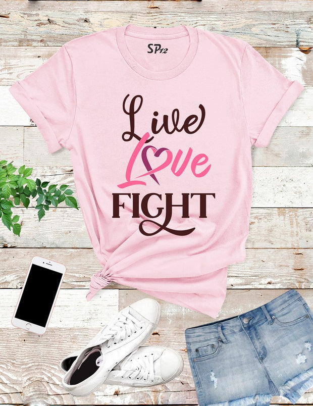 Love Live Fight Breast Cancer T Shirt