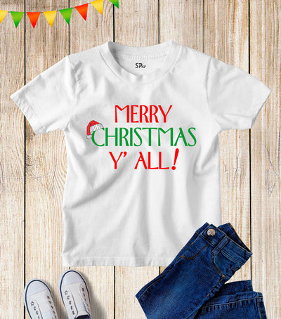Merry Christmas Y'All Kids T Shirt