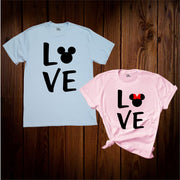 Mickey And Minnie couple Love T Shirt
