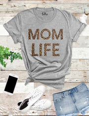 Mom Life Leopard T Shirt
