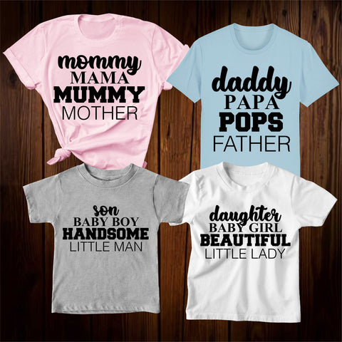 Mommy Daddy Son Daughter Family Matching T Shirt