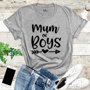 Mum Of Boys Ladies T Shirt