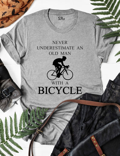 Never Underestimate An Old Man With A Bicycle T Shirt