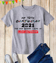 Personalised Kids Lockdown Birthday T Shirt