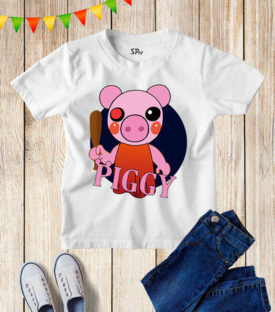 Piggy Kids Children's T shirt Funny Roblox Gamer Gift tees