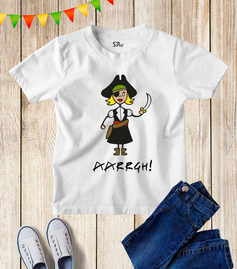 Pirate Girl Kids T Shirt