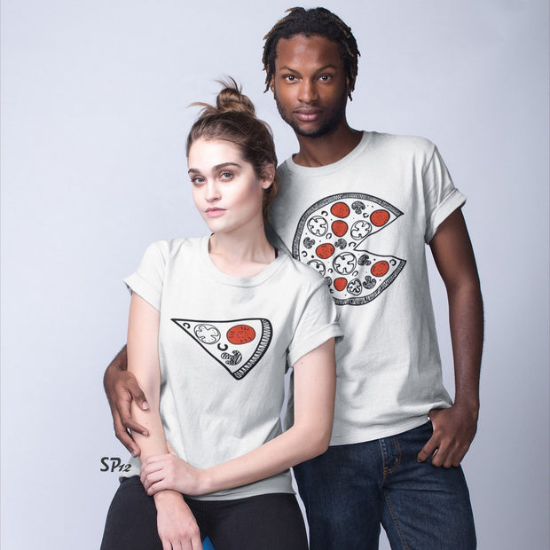 Pizza And The Slice Couple T Shirt