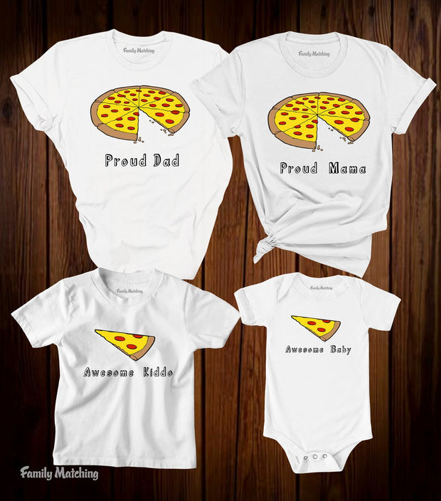Pizza Family Matching T Shirt
