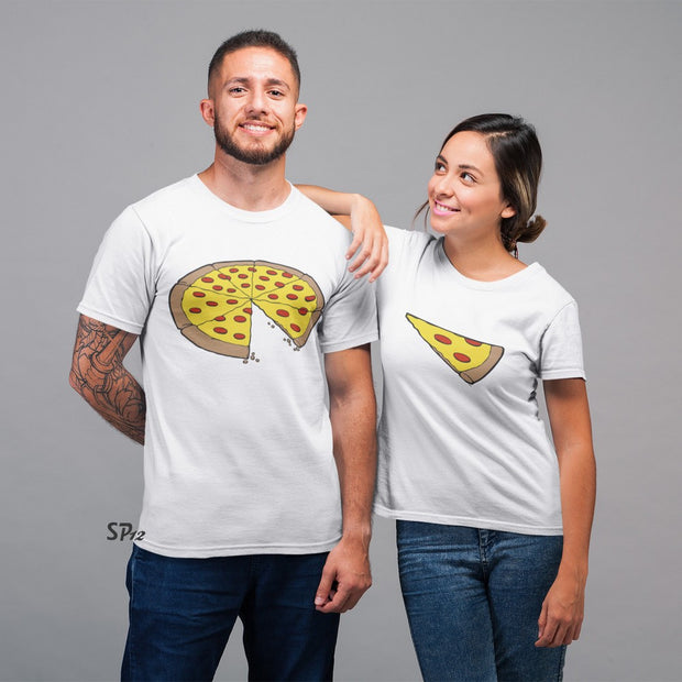 Pizza Slice Couple T Shirt