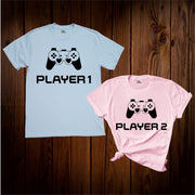 Player 1 Player 2 Couple T Shirt
