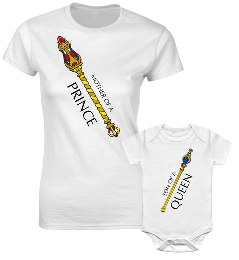 Mother Of A Prince Son Of A Queen Scepter Royal Son Family Matching T shirts