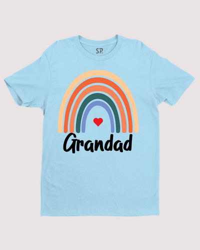 Rainbow Grandad T Shirt Fathers Day Shirt Grandfather TShirt Gift