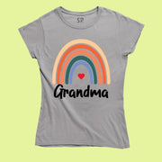 Rainbow Grandma T Shirt Grandmother tshirt Grandma Shirts Gift tee
