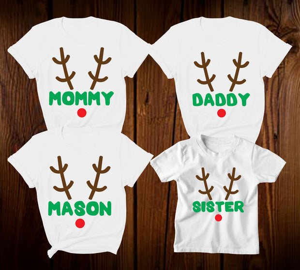 k out Personalised Christmas Reindeer T