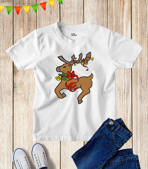 Reindeer Christmas Kids T Shirt