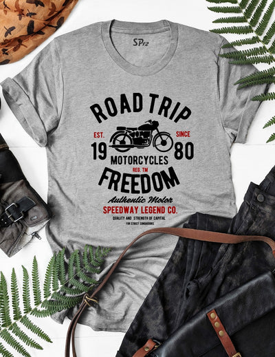 Roadtrip Motorcycles Freedom T Shirt