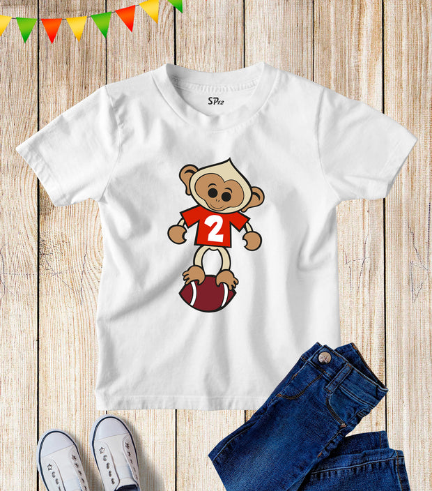 Rugby Number 2 Jersey Kids T Shirt
