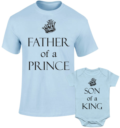 Father Daddy Daughter Dad Son Matching T shirts Of A Prince Son Of A King