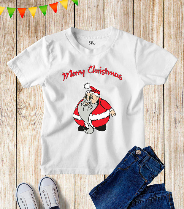 Santa Claus Merry Christmas Kids T Shirt
