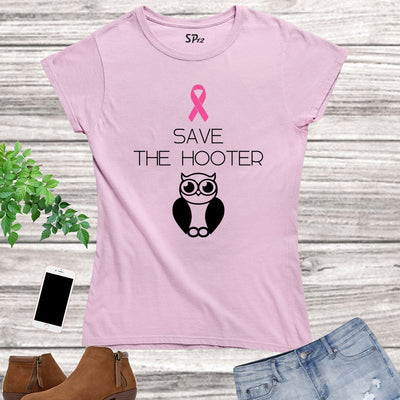 Save The Hooter Breast Cancer Women T Shirt