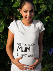 See You Soon Pregnancy Maternity T Shirts