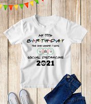 Social Distancing Personalised Kids Birthday 2021 T Shirt