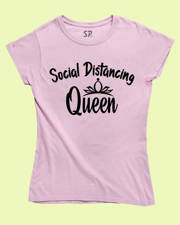 Social Distancing Queen T Shirt Lock Down Quarantine Gift Shirt