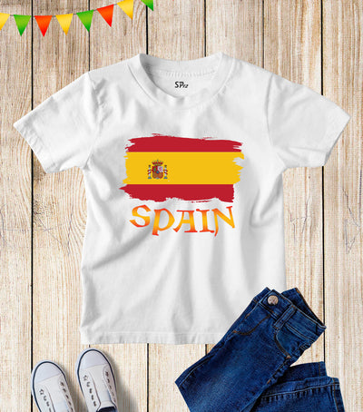 Spain Flag Kids T Shirt