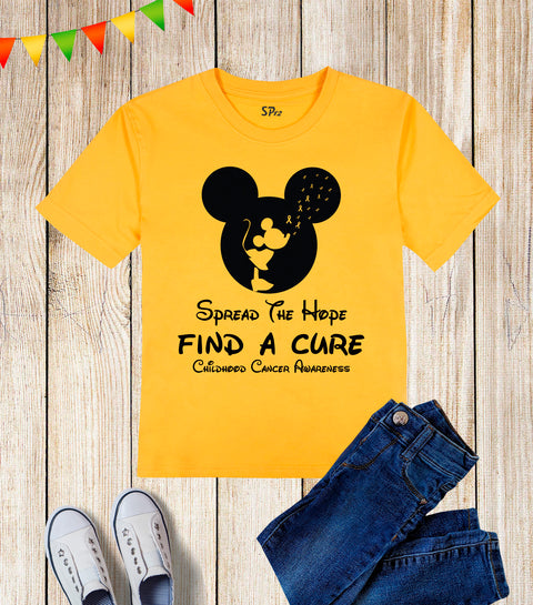 Spread The Hope Find A Cure Children Awareness Kids T Shirt