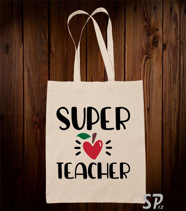 Super Teacher Tote Bag