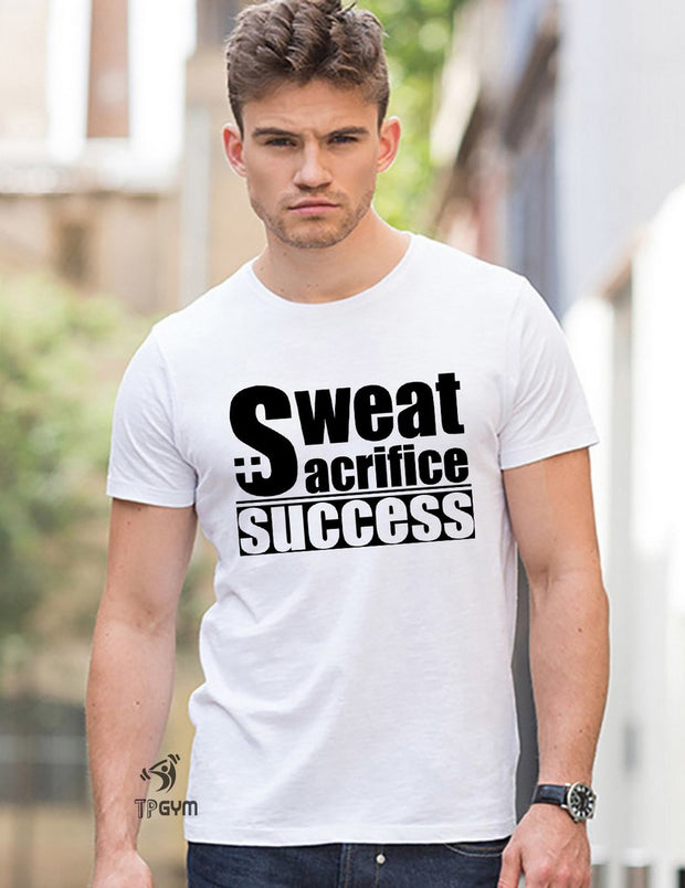 Sweat Sacrifice Success Crossfit T Shirt