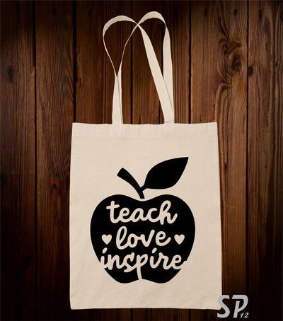 Teacher Love Inspire Tote Bag
